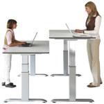 Officeplus Fachhändler Darmstadt, höhenverstellbarer Schreibtisch mit Motor oder Gasfederlift