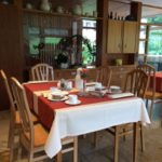 Dallau Elztal, Casa Medica vollwertig Speisen im Speisesaal nach der Quellwasser-Dauerbrause